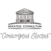 """SENATUS CONSULTUM """"Conscriptus Electus"""""""